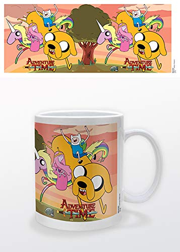 Adventure Time - 1 Tazza in Ceramica Rainicorn And Friends