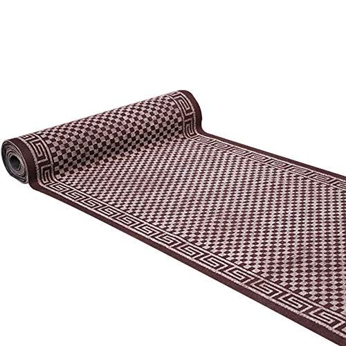 SCAHUN Felpudo Pasillo/Escaleras/Cocina Antideslizante Usable Absorción De Agua Se Puede Cortar Aproximadamente 6 Mm De Espesor Colector De Suciedad Almohadilla Fácil De Limpiar,Brown-50×160cm
