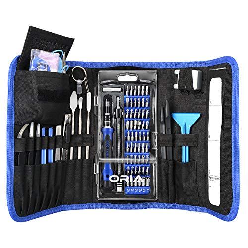 ORIA 86 in 1 Präzision Schraubenzieher Set, Magnet Reparatur Tool Kit für Elektronische Geräte mit Tragbaren Tasche