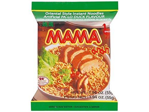 Mama - Asia Nudeln Ente Geschmack - 30er Pack (30 x 55g) - 1 Karton Thai Fertiggericht