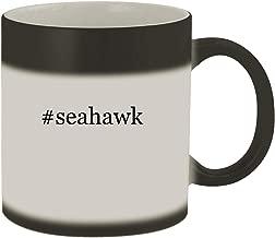 #seahawk - Ceramic Hashtag Matte Black Color Changing Mug, Matte Black