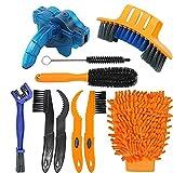 kit limpieza bicicleta,10 pcs Herramientas de Limpieza para Bicicleta,Múltiple cepillos de Limpieza para bicicleta Bicicleta,Profesional Limpieza para Cadenas y Llantas