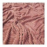 Stoff am Stück Stoff Polyester Minky Fleece altrosa