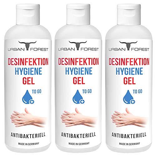 Hygiene Gel für Hand/Hände für unterwegs & zuhause 99,9% URBAN Forest (3X 150ml)