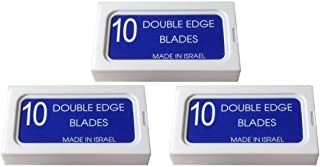 CrystalSUPER + Stainless Steel Platinum Coated Double Edge Safety Razor Blades A.K.A Israeli Personnas (30 blades)