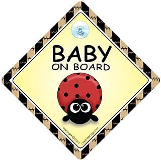 Baby Girl On Board Lapin Rose Voiture Signe *** GRATUIT UK LIVRAISON ***