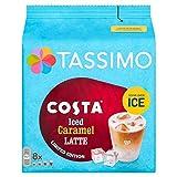 Tassimo Costa Iced Latte Coffee Pods, 8 Servings, Caramel, 271 Gram