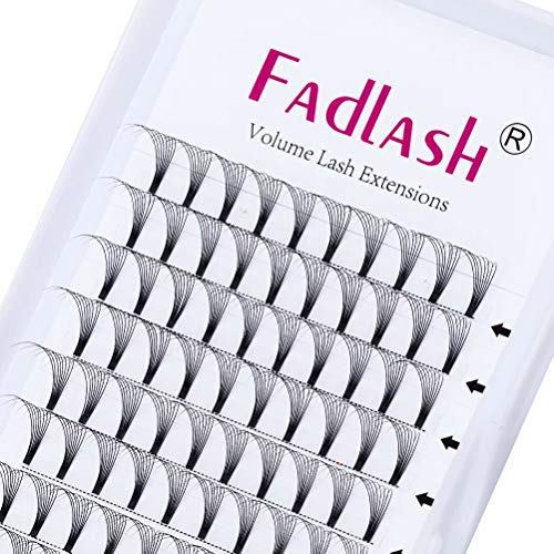 Pre Made Russian Lashes 8D 0.07mm D Curl 13mm Premade Russian Volume Lashes Pre Made Fan Lashes by FADLASH (8D-0.07-D-13mm)