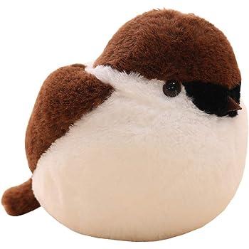 雀 スズメ ぬいぐるみ 抱き枕 25-45CM ふわふわ もちもち かわいい 動物 おもちゃ 子供 彼女へ 誕生日 プレゼント 贈り物 ふかふか 柔らかい お祝い 入園祝い 入学祝い バレンタイン