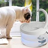 Dispensador de agua para perros de gato, fuente de agua para mascotas automática con fuente de agua con luz LED, dispensador de agua filtrada, ultra silencioso para gatos y perros
