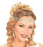 shoperama Corona de laurel dorada para la cabeza de la joya, romano, griega, diosa griega, diosa de Dios, Julius, César, Campestre, accesorio de disfraz antiguo