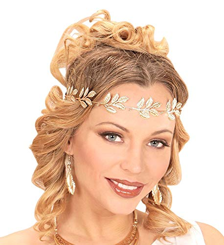 shoperama Corona de laurel dorada para la cabeza de la joya, romano,...