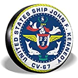 Du-shop USS John F. Kennedy CV-67 Patente Coperchio Pneumatici Antipolvere Resistente alla Polvere