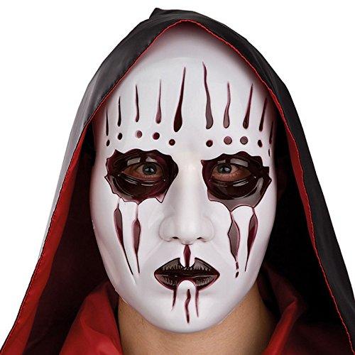 Masque Blanc Visage scarifie scarifé Adulte - Halloween Accessoire - 355