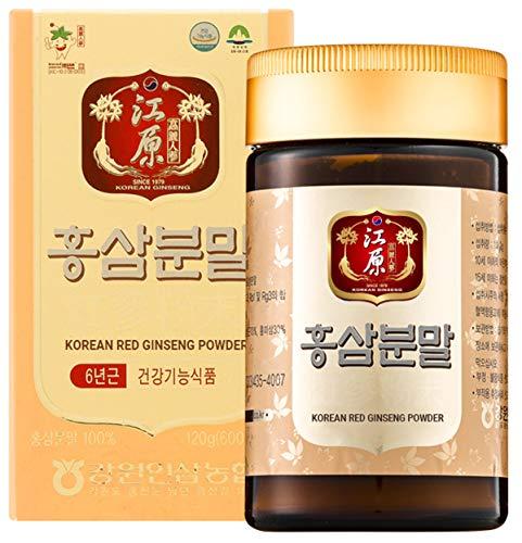 [Gangwoninsam] Korean Red Ginseng Powder – Contains 100% 6 Year Korean Red Ginseng Powder, Healthy Korean Food, 120g / 4.23 fl. oz (120g)