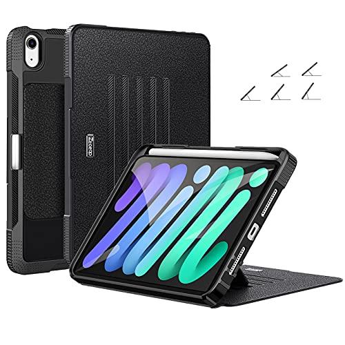 ZtotopHülles Mehrfachwinkel Hülle für Neu iPad Mini 6 2021 Magnetisch Schutzhülle mit Stifthalter, Stoßfest Sturzfest Hülle, Automatischem Schlaf/Aufwach, für iPad Mini 6. Generation 8,3