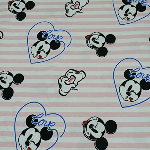 Disney Jersey Micky Maus, love you (50cm x 150cm)