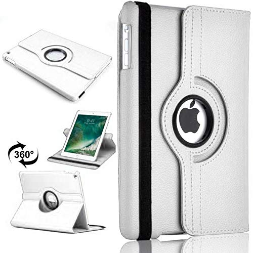 PU Leather Rotate Stand Case Cover For Apple iPad 10.2 2019/2020 8th/7th Gen A2428 A2429 (White)