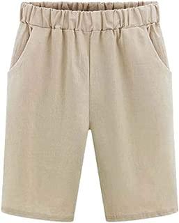 Sweatwater Womens Wide Leg Plus Size Bermuda Elastic Waist Straight Shorts