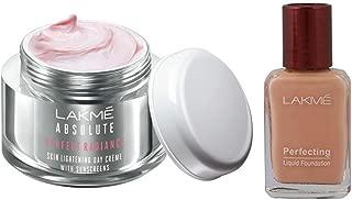 Lakmé Perfect Radiance Fairness Day Creme 50 g & Lakme Perfecting Liquid Foundation, Pearl, 27ml