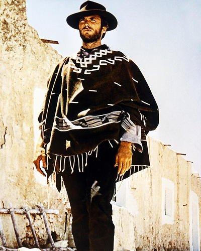 Nostalgia Store Clint Eastwood Poncho Sergio Leone Western Un Puño de Dólares 14x11 Fotografía Promocional