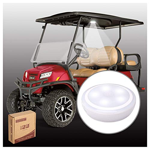 10L0LGolfCartRoofTouch LEDLight Fit for ClubCarEZGOYamaha, USBRechargeable Wireless Light Stick-on Anywhere with Strong Adhesive for Golf Cart