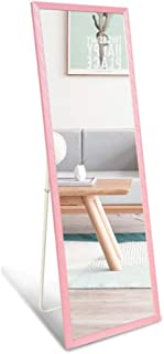 Durable Large Free Standing Bedroom Mirror Full Length Wall Mounted Floor Mirror Dressing Mirror Framed Mirror for Living Room Cloakroom Decorate Your Room (Color : Pink, Size : 60165CM)