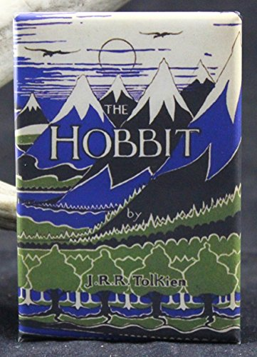 The Hobbit Book Cover - Refrigerator Magnet. Tolkien