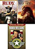 Impossible dream hope Fantasy Stephen Spielberg War Horse Story + Rudy & Good Morning Vietnam 3 DVD Inspire Bundle