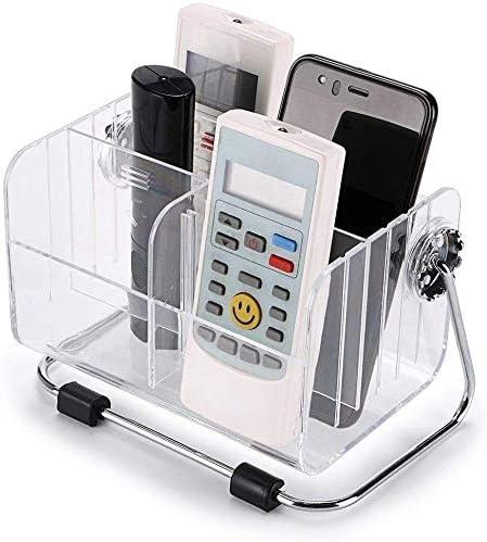 FreshDcart TV-AC Remote Organiser Stand Holder with Plastic Desk Organizer Stylish Pen Makeup Mobile 6-Slot Shelf Sta...