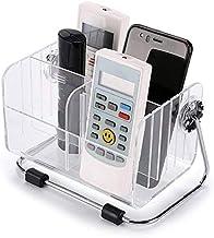 FreshDcart TV-AC Remote Organiser Stand Holder with Plastic Desk Organizer Stylish Pen Makeup Mobile 6-Slot Shelf Stackabl...