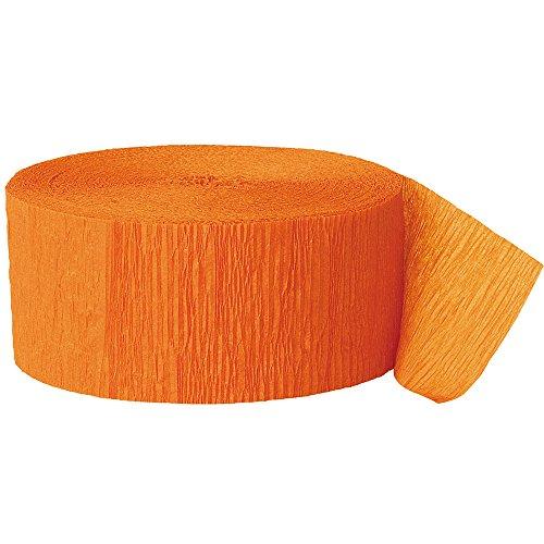 Krepp-Papier Party-Papierschlange- 24 m - Orange