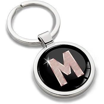 Porte-cl/é Lettres A-Z Initiales Personnalisable de lalphabet Accessoires Homme Or Femme Cadeau Lettre L KK 64