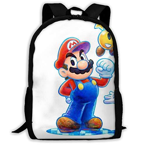 Designer Luigi Kids School Backpack for Girls Boys Lightweight Durable Middle Elementary Daypack Book Bag