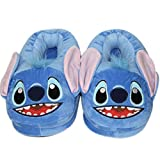 EASTVAPS - Pantuflas para mujer y hombre, diseño de Stitch de peluche de invierno, color azul 36