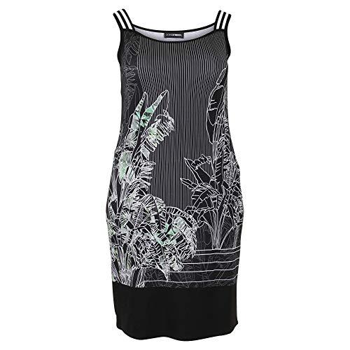 Doris Streich Damen Kleid mit Print mit Kontrastbesätzen