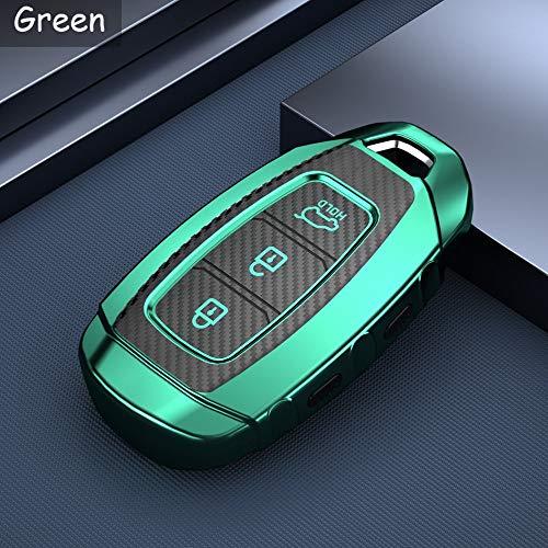 LYSHUI TPU Schlüsselhalter Abdeckung Gehäuse Zubehör Schlüssel Auto Kettenabdeckung Anhänger, Für Hyundai Kona Solaris Creta Ix25 Veloster Santa Fe Grandeur I30
