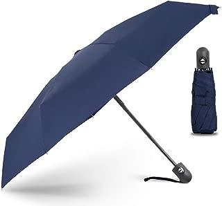 YQRYP Mini Five Folding Automatic Umbrella Compact Portable Pocket Umbrella Dual-use Sun Umbrella UV Protection Sunscreen Upf50+ Windproof Umbrella, Golf Umbrella (Color : Blue)
