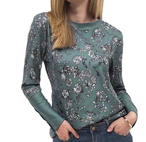 Camisas Más Tamaño 5X Flor De Impresión Blusa De Las Señoras Elegante Ocio Casual Mujeres Tops Jerseys 2020 Otoño O-Cuello Tee Femme