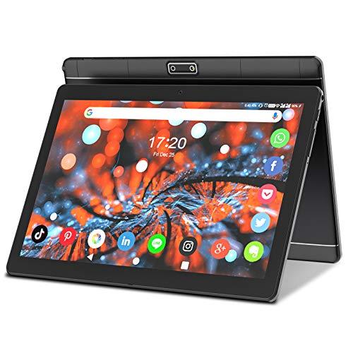 Tablet 10.1 pollici Android 8.1 Quad-core 16 GB ROM / 128 GB Espandibile, 3G Tablet telefono Dual slot SIM, WiFi GPS Bluetooth Google Play (Nero)