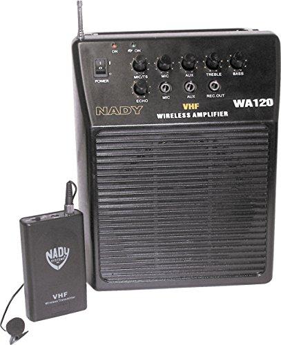 Nady WA-120LT/E Portable PA System with Wireless Omni-Lavalier Mic