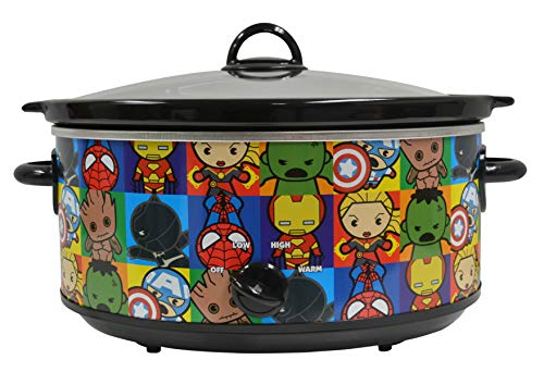 Uncanny Brands Marvel Kawaii 7qt Slow Cooker- Cook With Earth's Mightiest Heroes