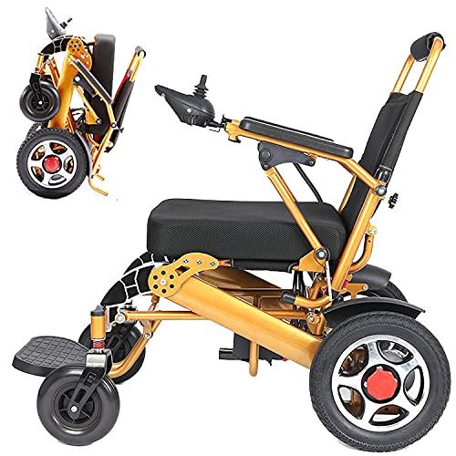 DREAMyun Elektrischer Rollstuhl Faltbar, Elektrorollstuhl Faltbar mit Li-Ion Battery 24V 12Ah, Doppelfunktion Faltbare für ältere und behinderte Menschen Elektro-Rollstuhl