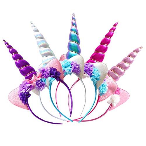 FAVMOS 5pcs Diadema Unicornio Tocado Decorativo Accesorios de Halloween