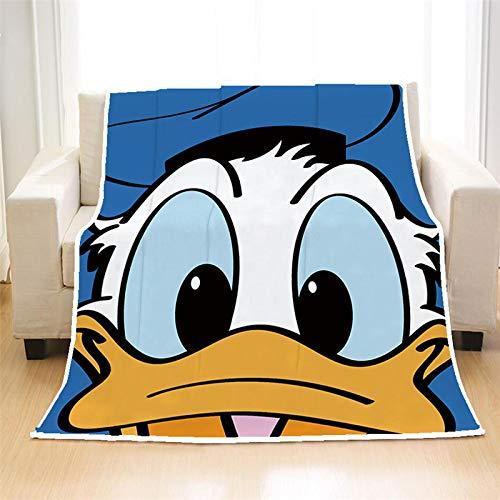Manta de Mickey Mouse Impresa en 3D 150X200Cm, Toalla de baño Minnie Funda de edredón para sofá Ropa de Cama de Viaje Manta de Terciopelo de Felpa Manta de Lana