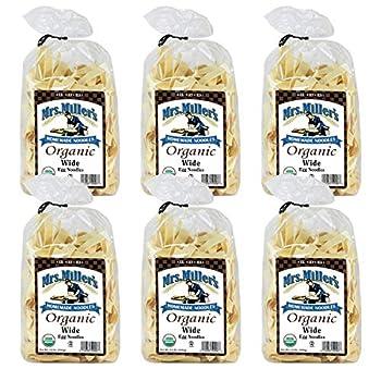 Mrs Miller s Homemade Organic Egg Noodles Wide 12 OZ  Pack of 6