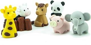 Ty Iwako Eraserz - Zoo Animals Pack, Colours May Vary - Figura de Juguete (IWAKO ERZ2000)