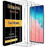[4 PACK]UniqueMe Cristal templado para Samsung Galaxy S10 Lite, [Sin burbujas] [Sensible al tacto]...