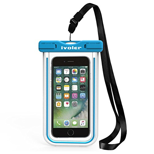 "[IPX8 Certificato] Custodia Impermeabile,iVoler Custodia Cellulare Impermeabile Universale 6 Pollici Waterproof Cover Case Impermeabile per Apple iPhone 7, 7 Plus,6s / 6, 6s Plus / 6 Plus, SE 5S 5C, Samsung Galaxy S7/S7 Edge/S6/S6 Edge/Edge+, Note 7/5/4/3/Edge, Huawei, Nexus, ASUS, LG, HTC, Sony Xperia, Motorola ed Smartphone Uguale o Inferiore a 6"",ecc - Garanzia a vita (Blu)"