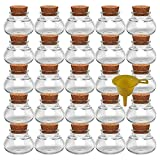 Viva Haushaltswaren–25tarros de Especias 40ml, Incluye Embudo de Mini Copas de Corcho para Regalos, Especias, etc.